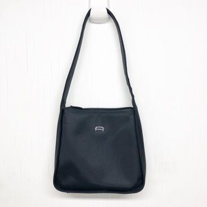 Etienne Aigner Black Nylon Shoulder Bag Purse